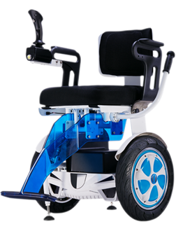 A6S self-balancing wheelchair installs alterable handlebar, automatic kickstand and intelligent LED lights.