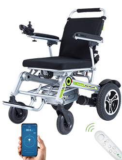 Airwheel H3S power chair is featured by automatic folding system and App remote control